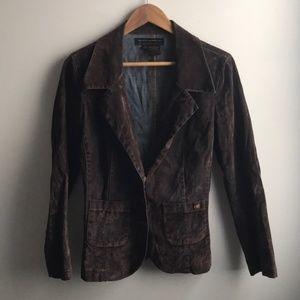Vintage brown velvet denim jacket
